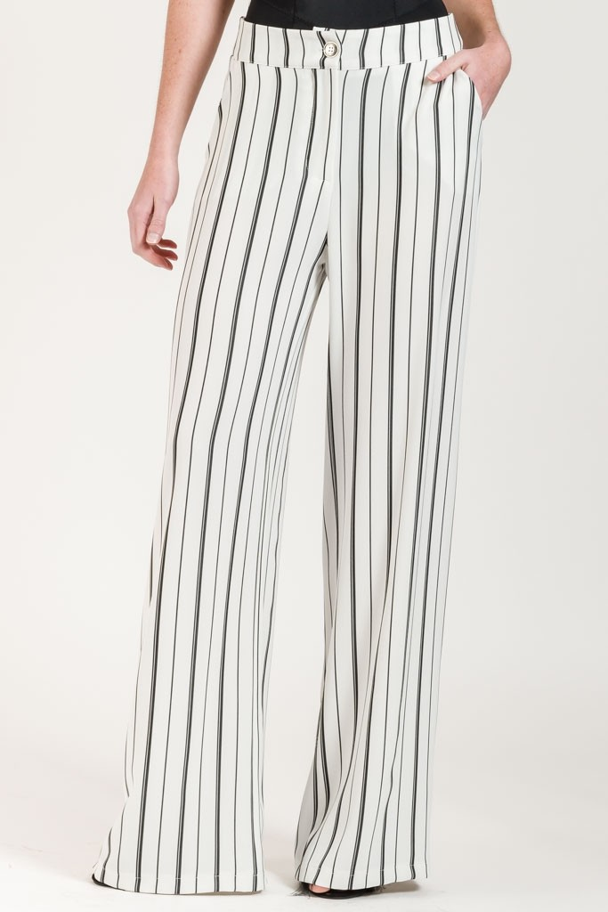 FLOWING TROUSERS WITH STRIPES