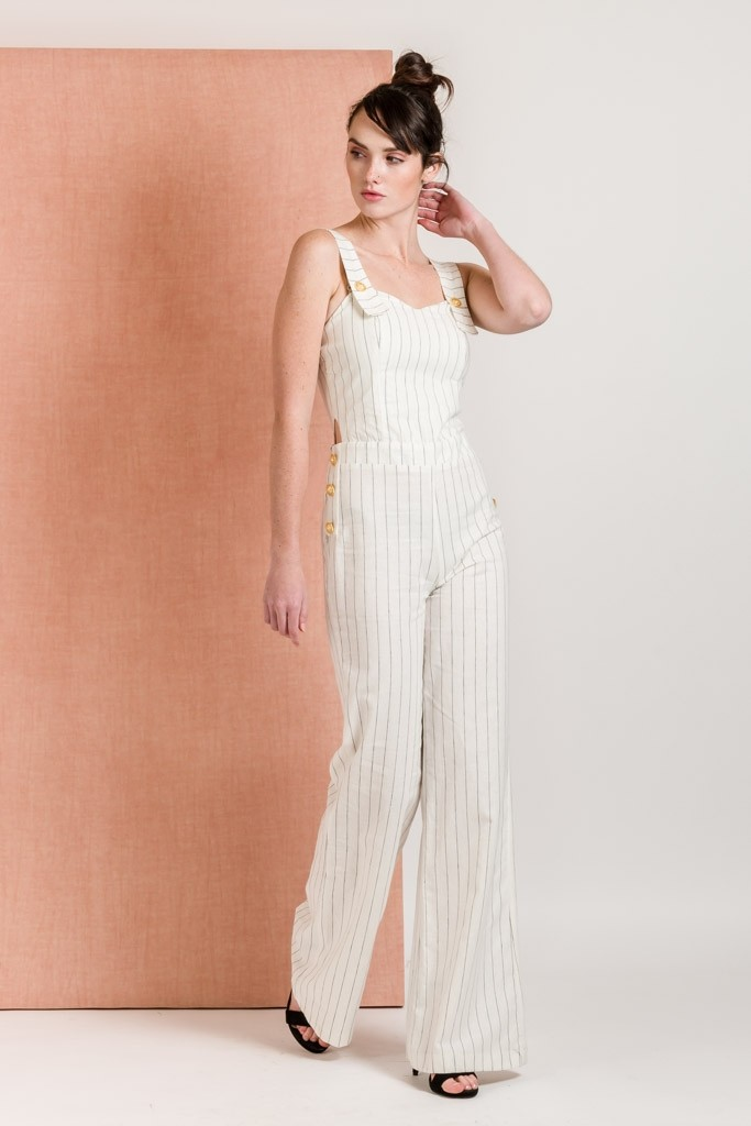 JUMPSUIT WITH STRIPES