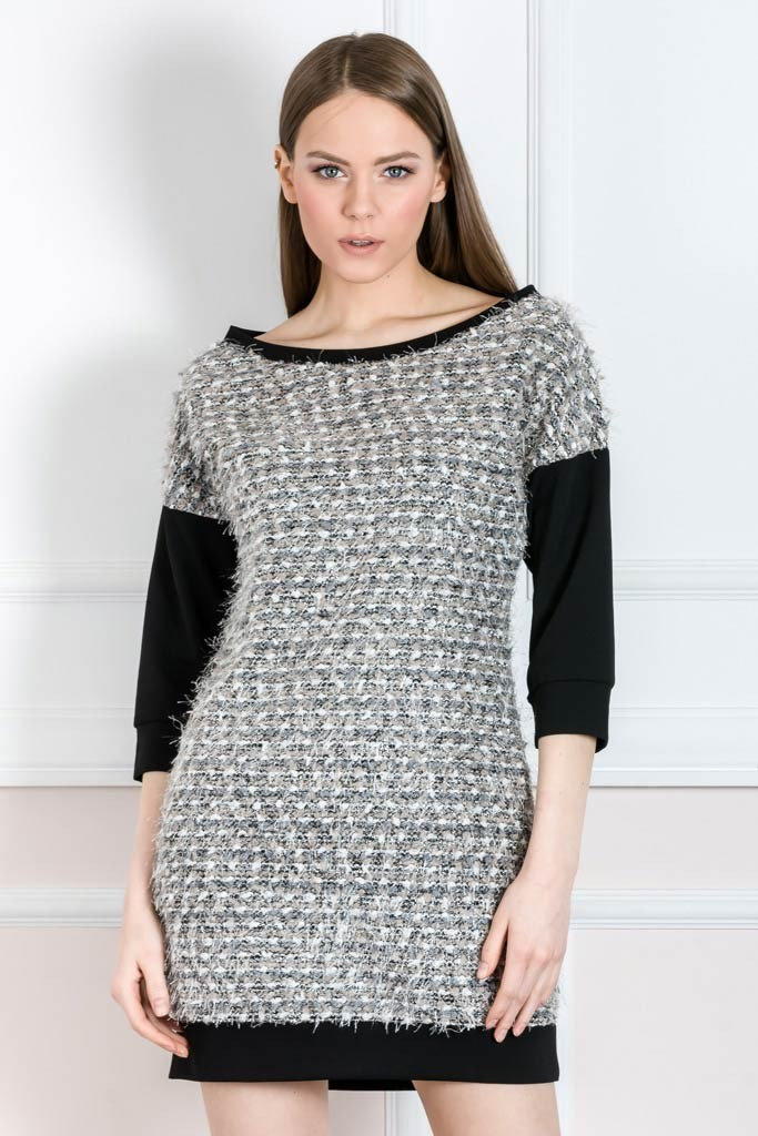 KNITTED LUREX DRESS