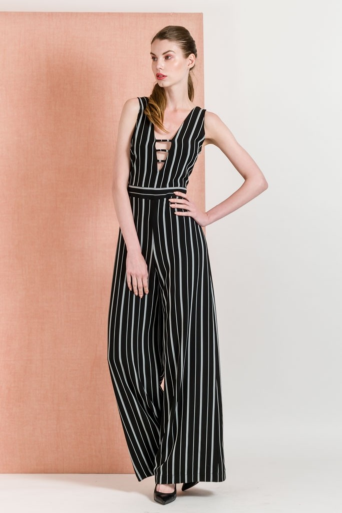 26c54f80b170 Striped Sleeveless Jumpsuit - Jumpsuits - Clothing