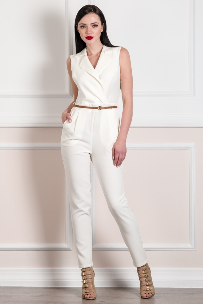 WRAP FRONT SLEEVELESS JUMPSUIT