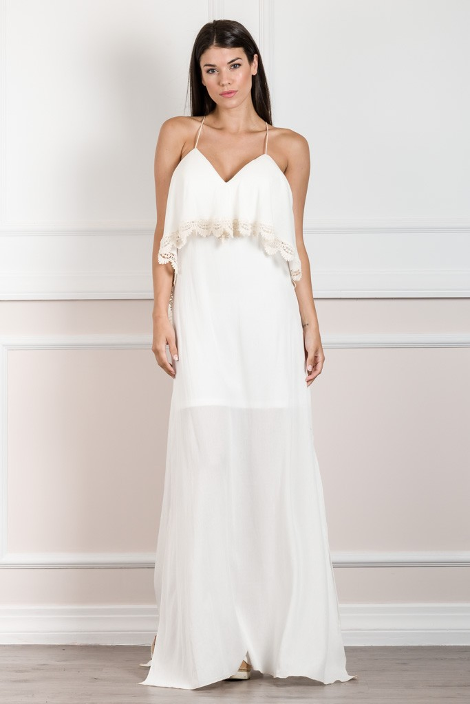 ULTRA SEXY LONG DRESS WITH OPEN X BACK