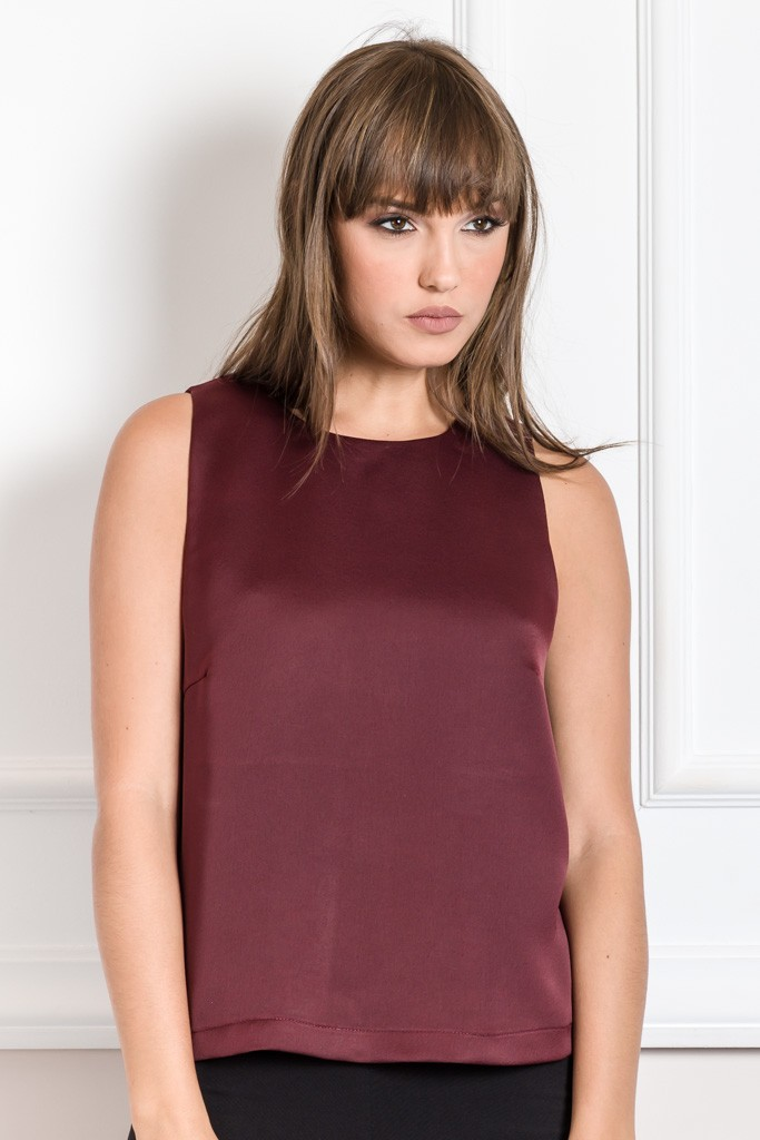 SLEEVELESS TOP WITH WRAP BACK