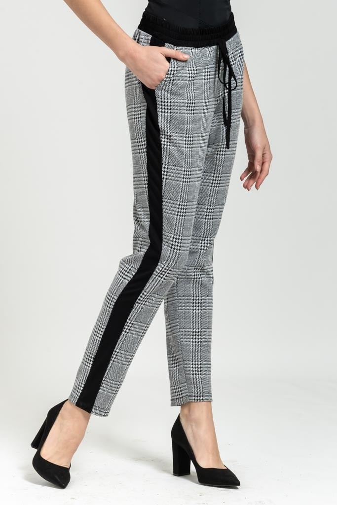 CARREAUX DROP CROTCH LOOSE PANTS WITH SIDE STRIPE