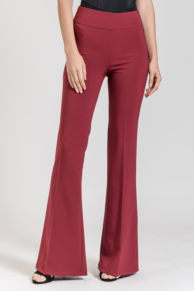 MONOCHROME BELL BOTTOM TROUSERS