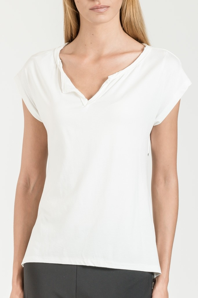 MONOCHROME T-SHIRT WITH WRAP BACK