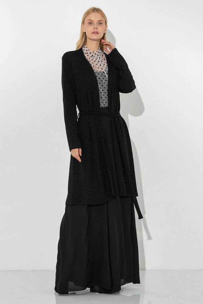 BLACK LUREX CARDIGAN