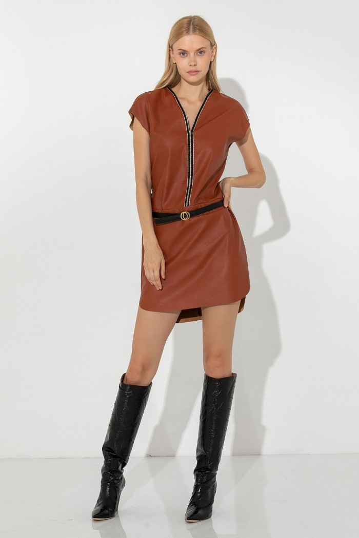 MINI LEATHER DRESS