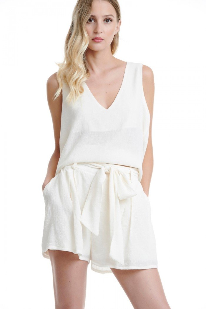 BELTED HIGH RISE SHORTS