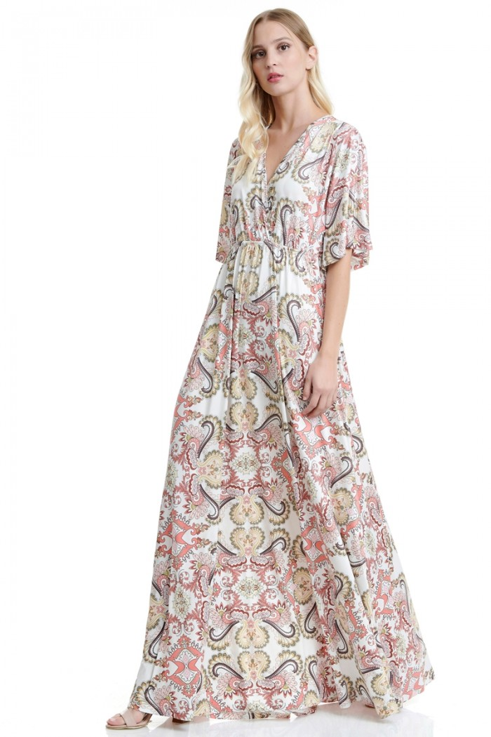 MAXI DRESS WITH PAISLEY