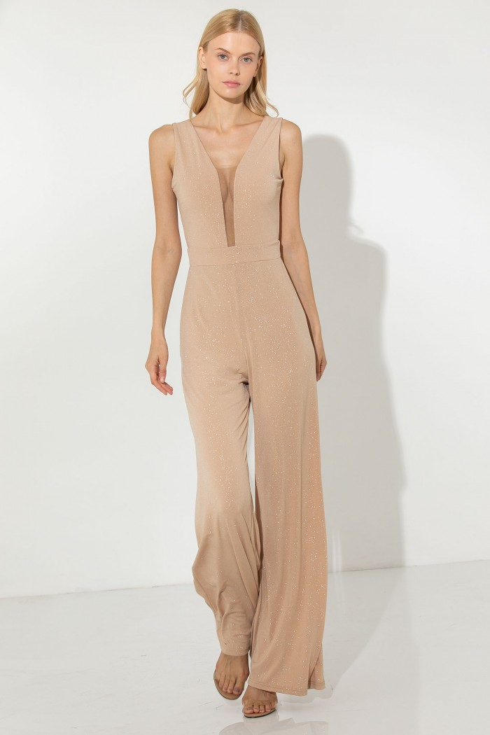 OCCASION JUMPSUIT WITH DEEP V