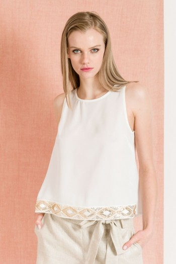 OCCASION TOP WITH SEQUIN DETAIL