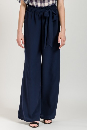 WIDE TROUSERS WITH FABRIC BELT