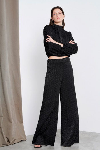CAPITONE WIDE LEG TROUSERS