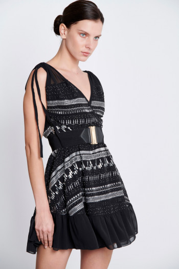 MINI SEQUIN AND BEAD-EMBELLISHED DRESS