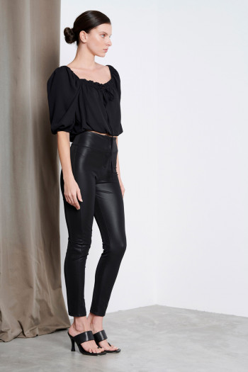 HIGH WAIST MATTE ECO LEATHER LEGGINGS