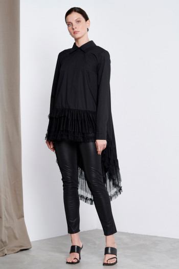 HIGH-LOW EXTREME OVERSIZED SHIRT