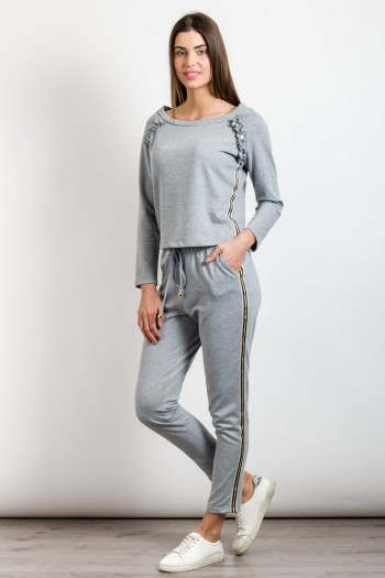 COTTON TRACK SWEATPANTS WITH STRIPES