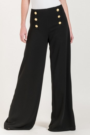 FLOWING TROUSERS WITH BUTTONS