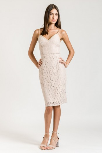 KNEE LENGTH LACE DRESS