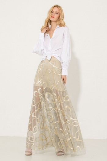 LONG SHEER ORGANZA SKIRT