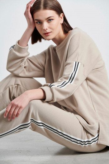 OVERSIZE SWEATSHIRT WITH STRIPES