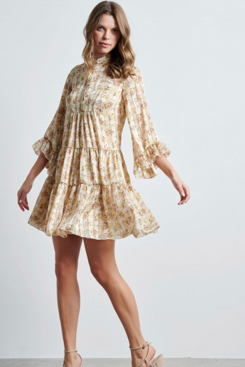 CHIFFON ROMANTIC MINI DRESS
