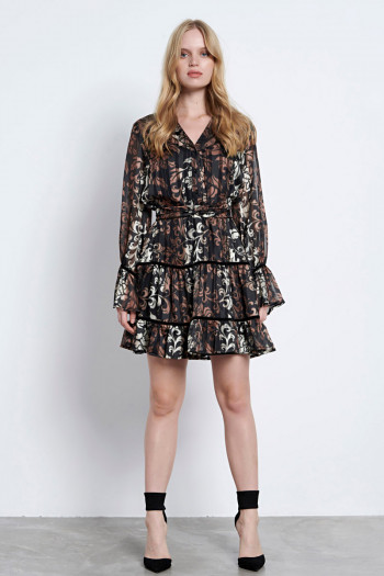PAISLEY CHIFFON DRESS