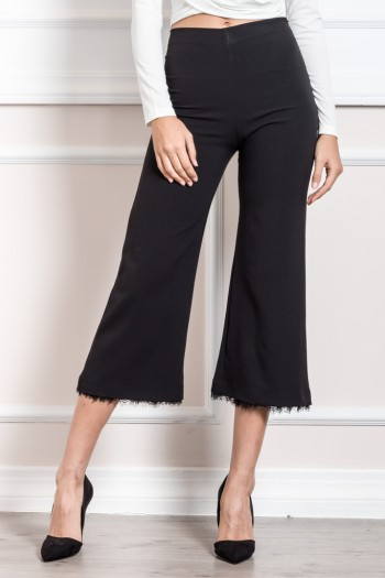TAILORED CULOTTES WITH LACE ENDING DETAILS