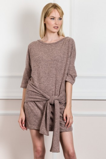 OVERSIZED BLOUSE-DRESS WITH BOW DETAIL