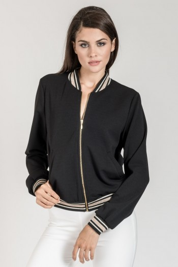 BOMBER JACKET WITH STRIPES