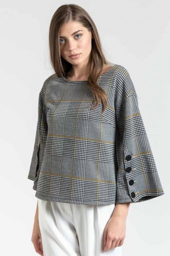 CARREAUX TOP WITH BELL SLEEVES