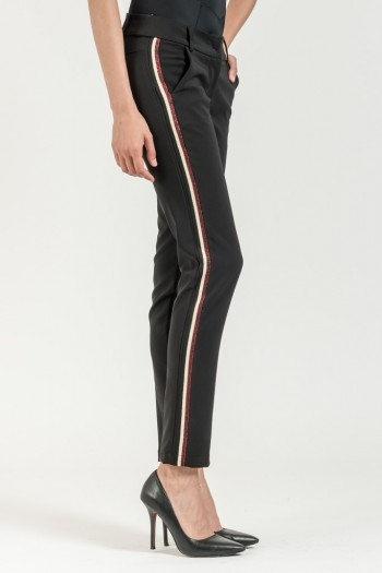 CIGARETTE TROUSERS WITH SIDE STRIPES