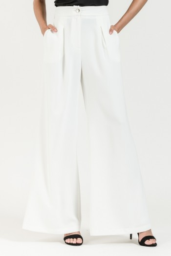 HIGH WAISTED LOOSE WIDE LEG TROUSERS