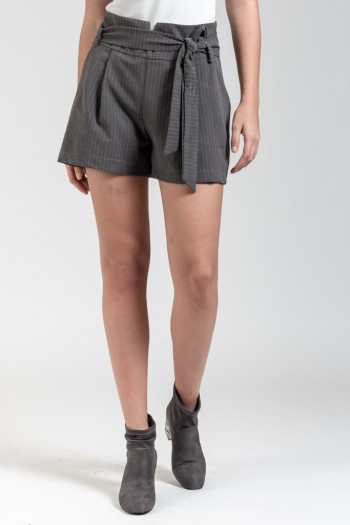 HIGH WAISTED STRIPED SHORTS WITH BELT