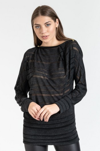 LONG BLOUSE WITH STRIPES