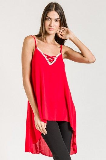 LONG HIGH LOW X FRONT TOP