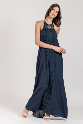 MAXI LOOSE DRESS WITH LACE