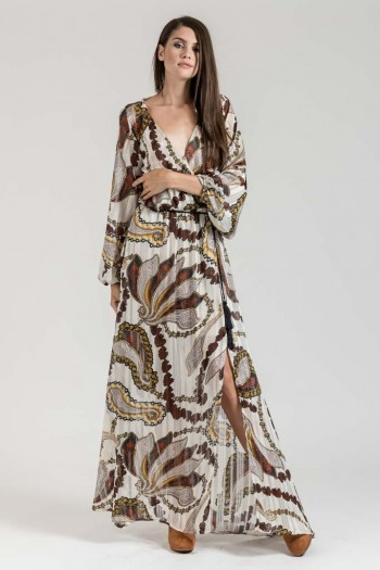 MAXI WRAP BOHO SPLIT DRESS