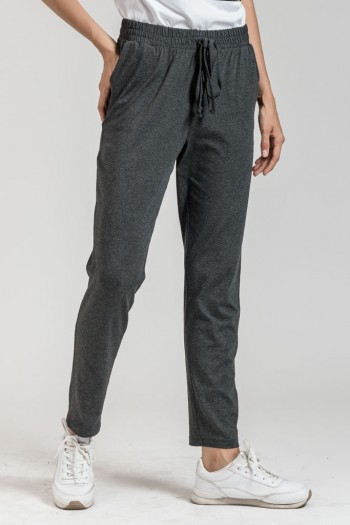 MONOCHROME DROP CROTCH LOOSE PANTS