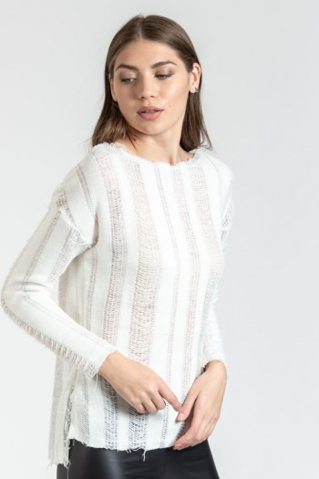 MONOCHROME KNITTED BLOUSE