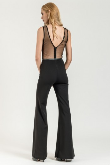 OCCASION JUMPSUIT WITH TULLE DETAILS