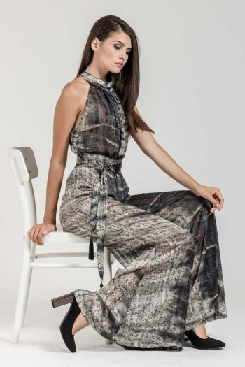 OCCASION PRINTED LOOSE JUMPSUIT