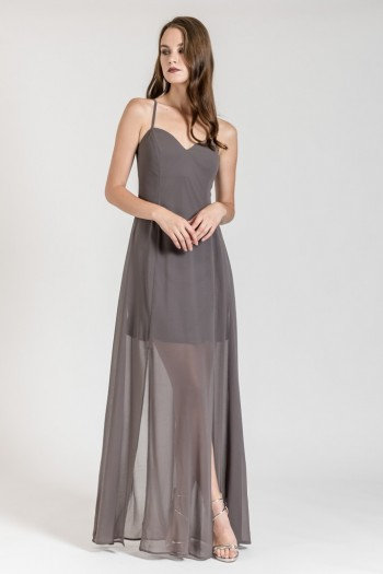 OCCASION X BACK MAXI DRESS