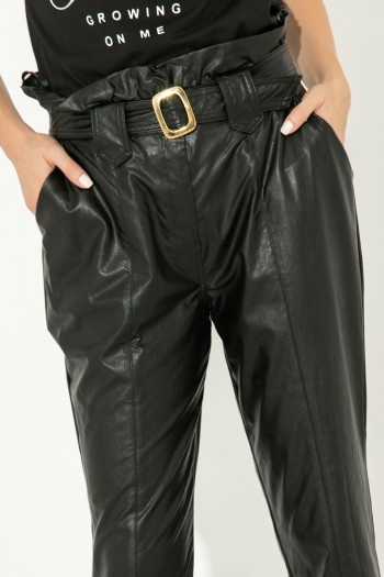 LEATHER PANTS WITH BELT