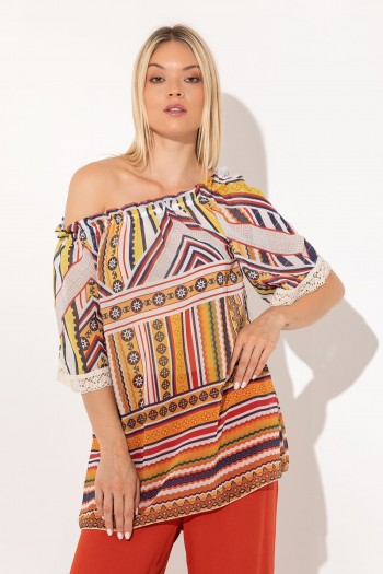 OFF SHOULDER LONG BLOUSE
