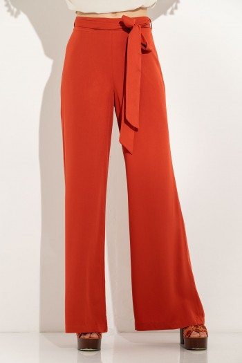 WIDE LEG TROUSERS WITH FABRIC BELT