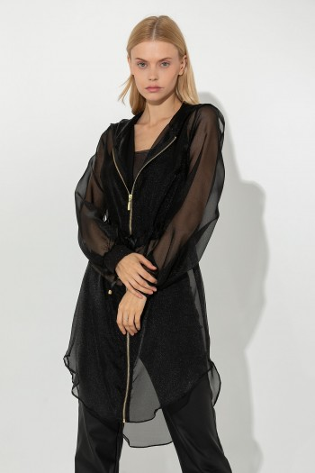 LONG SHEER ORGANZA SHIRT