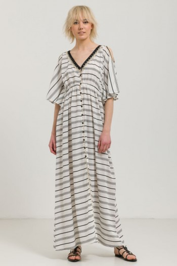 LONG OVERSIZED DRESS WITH STRIPES