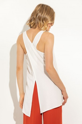 LONG TOP WITH OPEN BACK